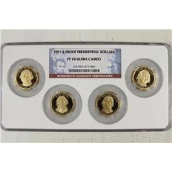 2007-S PROOF PRESIDENTIAL DOLLAR SET NGC PF70