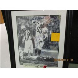Chuck Bednarik signed photo