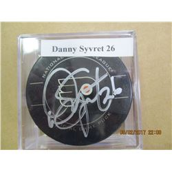 Danny Syvret 26 autographed hockey puck