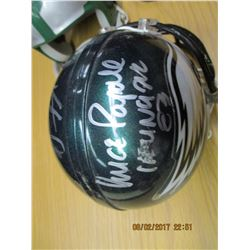 Five Miniature Autographed Football Helmets