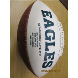 Trent Cole Autographed Football