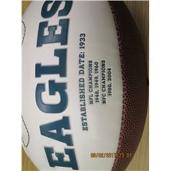 Bergey Autographed Eagles Football
