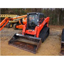2015 KUBOTA SVL90-2 HIGH-FLOW SKID STEER LOADER, VIN/SN:16088 - CRAWLER, GP BUCKET, 2 SPEED, JOYSTIC