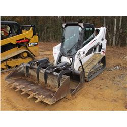 2016 BOBCAT T590 SKID STEER LOADER, VIN/SN:ALJU19641 - CRAWLER, GRAPPLE, GP BUCKET, REAR CAMERA, ECA