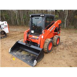 KUBOTA SSV65 SKID STEER LOADER, VIN/SN:14222 - WHEELED, GP BUCKET, ECAB W/AC, METER READING 56 HOURS