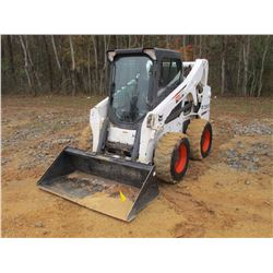 2012 BOBCAT S650 SKID STEER LOADER, VIN/SN:A3NV16032 - WHEELED, GP BUCKET, ECAB W/AIR, METER READING