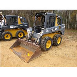 2010 JOHN DEERE 318D SKID STEER LOADER, VIN/SN:180414 - WHEELED, GP BUCKET, CANOPY, METER READING 2,