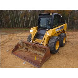 JOHN DEERE 320 SKID STEER LOADER, VIN/SN:129042 - WHEELED, GP BUCKET, ECAB W/AIR, METER READING 2,47