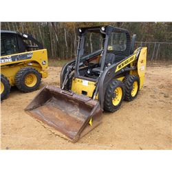 2012 NEW HOLLAND L215 SKID STEER LOADER, VIN/SN:NCM439856 - WHEELED, GP BUCKET, CANOPY, METER READIN