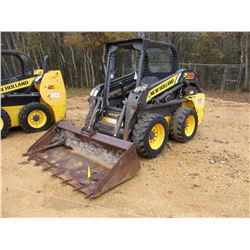 2012 NEW HOLLAND L218 SKID STEER LOADER, VIN/SN:NCM448099 - WHEELED, GP BUCKET, CANOPY, METER READIN
