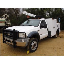 2006 FORD F550 SERVICE TRUCK, VIN/SN:1FDAF56PX6EA88333 - S/A, FORD POWERSTROKE DIESEL ENGINE, A/T, C