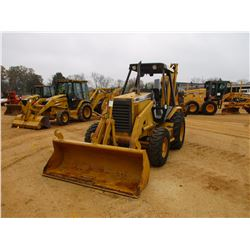 "CAT 416B LOADER BACKHOE, VIN/SN:8ZK08418 - 4X4, GP BUCKET, 23"" HOE BUCKET, CANOPY, METER READING 10,"