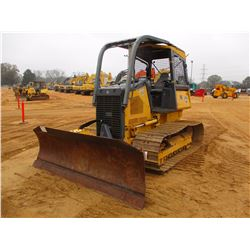 2008 JOHN DEERE 450J LGP CRAWLER TRACTOR, VIN/SN:165377 - 6 WAY BLADE, CANOPY, SWEEPS, SCREENS, METE