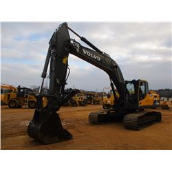 "2013 VOLVO EC250DL HYD EX, VIN/SN:210059 - 9' 6"" STICK 42"" BUCKET, HYD THUMB, ECAB W/AIR, METER READ"