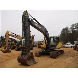 "2011 VOLVO EC210CL HYDRAULIC EXCAVATOR, VIN/SN:A0011582 - 9'6"" STICK, 48"" BUCKET, THUMB, REAR CAMERA"