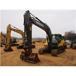 "2012 VOLVO EC160DL HYDRAULIC EXCAVATOR, VIN/SN:220115 - 8'6"" STICK, 72"" CLEAN OUT BUCKET, AUX HYD, R"
