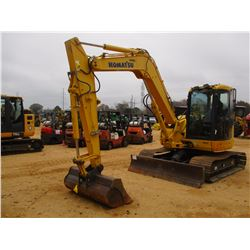 "2011 KOMATSU PC88MR-8 HYDRAULIC EXCAVATOR, VIN/SN:5691 - 6' STICK, 60"" CLEANOUT BUCKET, AUX HYD, BLA"
