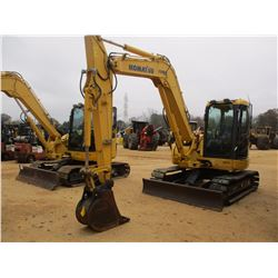 "2008 KOMATSU PC88MR-8 HYDRAULIC EXCAVATOR, VIN/SN:5158 - 6' STICK, 18"" BUCKET, AUX HYD, BLADE, RUBBE"
