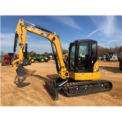 "2016 CAT 305E2CR MINI EXCAVATOR, VIN/SN:H5M02288 - 5'9"" STICK, 22"" BUCKET, HYD THUMB, AUX HYD, BLADE"