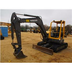 "2012 VOLVO ECR58 MINI EXCAVATOR, VIN/SN:13071 - QUICK COUPLER, 5' STICK 18"" BUCKET, SWING AWAY BOOM,"