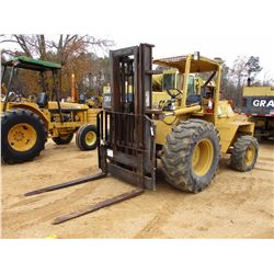 2001 MASTER CRAFT S-08-706 FORKLIFT, VIN/SN:5129C -ROUGH TERRAIN, 4X4, 8,000# CAP, TRIPLE STAGE MAST