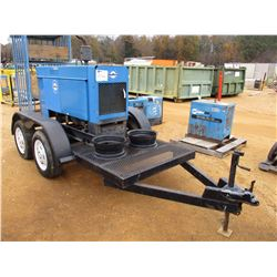 MILLER 550 WELDER, VIN/SN:1399204 - GENERAL MOTOR DIESEL ENGINE, MTD ON T/A TRAILER, ODOMETER READIN