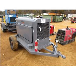 LINCOLN ARC WELDER SA-250 GENERATOR, - GAS ENGINE, MTD S/A TRAILER, METER READINGS 1209 HOURS