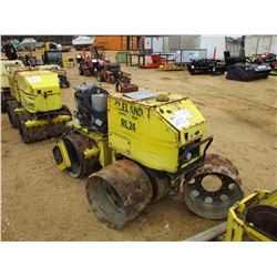 "WACKER RT TRENCH ROLLER, - 32"" DBL DRUM"