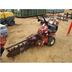 2011 DITCH WITCH RT-12 TRENCHER, VIN/SN:557 - GAS ENGINE, WALK BEHIND, METER READING 116 HOURS
