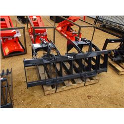 STOUT HD72-8 BRUSH GRAPPLE, - W/TOP CLAMPS, FITS SKID STEER LOADER