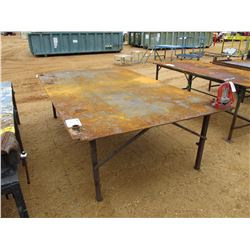 6'X10' METAL TABLE W/VISE