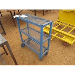 METAL STORAGE CART ROLL AROUND
