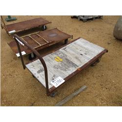METAL/WOOD ROLL AROUND CART