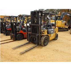 CAT DP30 FORKLIFT, VIN/SN:73M01238 - 6,000# CAP, TRIPLE STAGE MAST, CANOPY, METER READING 3,677 HOUR