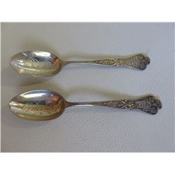 2 Sterling Silver Spoons