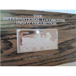 Franklin Mint Locomotive Sterling Silver Ingot - The General