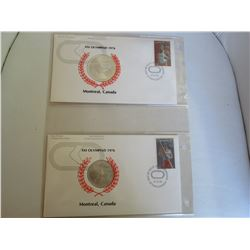 Canadian Olympic Coin Program $10 and $5 silver coin and stamp set