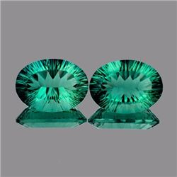 Natural Emerald Green Blue Fluorite Pair 27.95 Ct