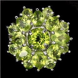 Natural Rich Green Peridot 29 Carats Ring