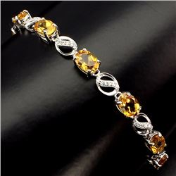 Natural Yellow Citrine 44 Carats Bracelet