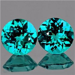 Natural Green Blue Apatite Pair 3.10 Carats - VVS