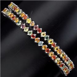 NATURAL FANCY COLORS SAPPHIRE DOUBLE BRACELET