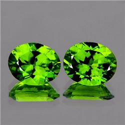 Natural Green Peridot Pair 10 x 8 MM {Flawless-VVS1}