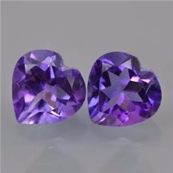 Natural Amethyst Heart Pair 31.90 Carats - VVS
