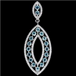 Natural Swiss Blue Topaz Pendant