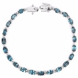 Natural London Blue Topaz 62 Carats Bracelet
