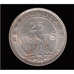 1917C Newfoundland Twenty-Five Cents