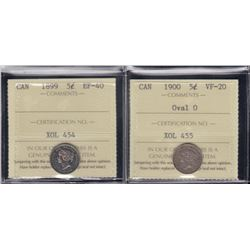 1899 & 1900 Graded Five Cents