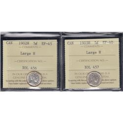 1902H & 1903H Graded Five Cents