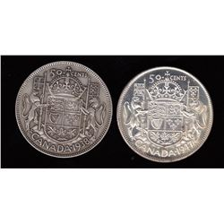 Lot of 2 Fifty Cents
